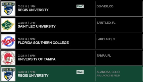 Adams State Women's Lacrosse Sched 2