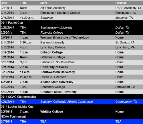 Colorado College Schedule