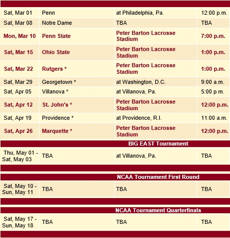 Denver Men's Lacrosse 2014 Schedule 2