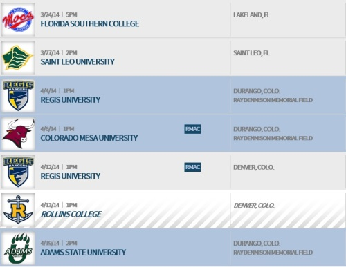 Fort Lewis Women's Lacrosse 2014 Schedule 2