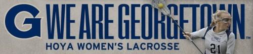 Georgetown Women's Lacrosse Banner