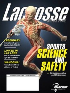 Lacrosse Magazine October 2013 Cover