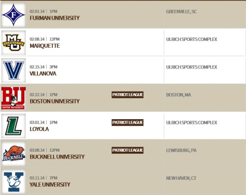 Lehigh Men's Lacrosse 2014 Schedule