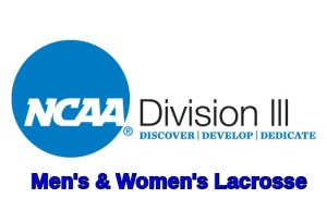 NCAA Div III Men's and Women's Lacrosse