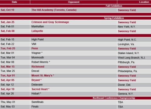 St. Joseph's Men's Lacrosse 2014 Schedule