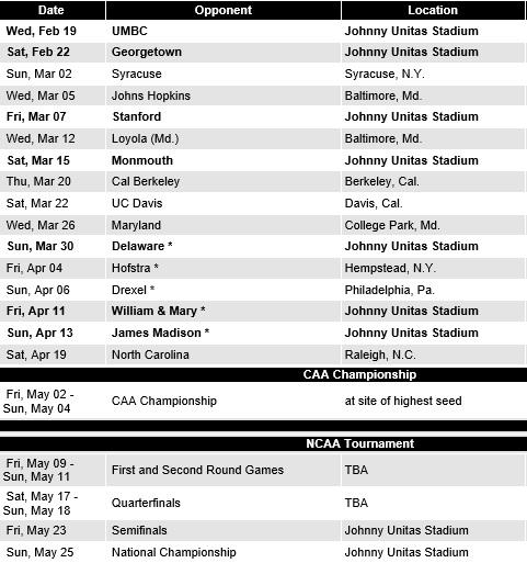 Towson Women's Lacrosse 2014 Schedule