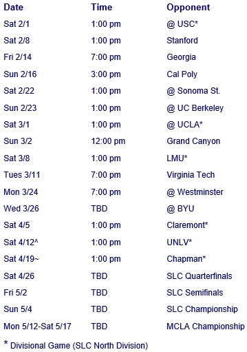 UC Santa Barbara Men's Lacrosse 2014 Schedule
