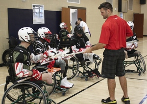 Wheelchair lacrosse was invented in 2009. (Courtesy of Wheelchair Lacrosse USA)