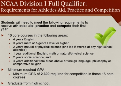 2016 NCAA Div I Initial-Eligibility Academic Requirements 3