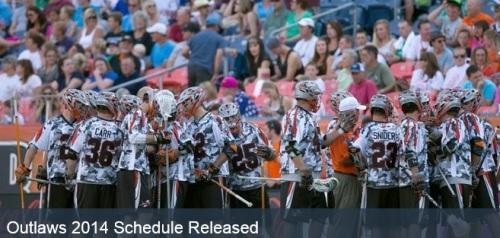 Denver Outlaws announce 2014 Schedule