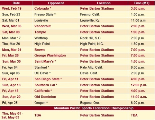 Denver Women's Lacrosse 2014 Schedule