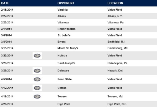 Drexel Men's Lacrosse 2014 Schedule