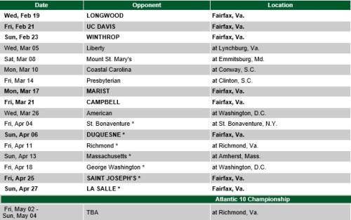 George Mason Women's Lacrosse 2014 Schedule