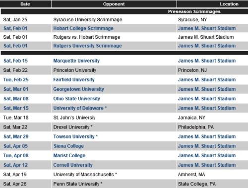 Hofstra Men's Lacrosse 2014 Schedule