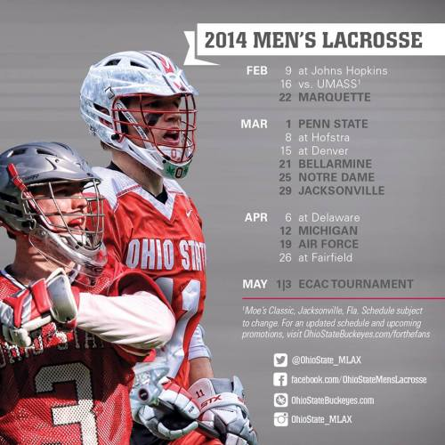 Ohio State Men's Lacrosse 2014 Schedule