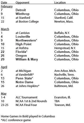 Ohio State Women's Lacrosse 2014 Schedule