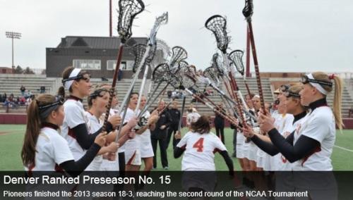 Denver Women's Lacrosse 2014 Preseason #15/16 Ranking