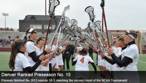 Denver Women's Lacrosse 2014 Preseason #15/16 Ranking