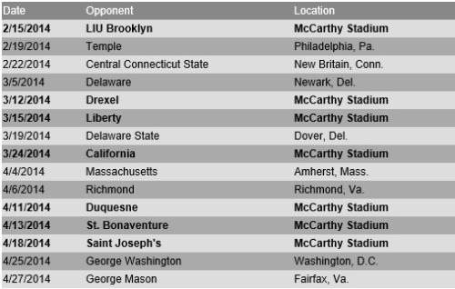 La Salle Women's Lacrosse 2014 Schedule