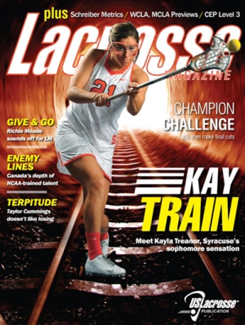 Lacrosse Magazine January 2014 Issue Cover