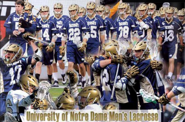Notre Dame Mens Lacrosse Banner