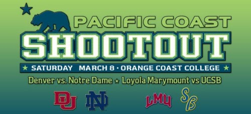 Pacific Coast Shootout Denver Men's Lacrosse vs Notre Dame
