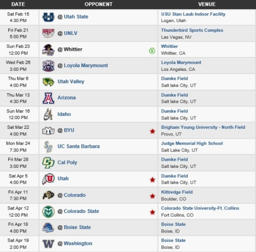 Westminster Men's Lacrosse 2014 Schedule