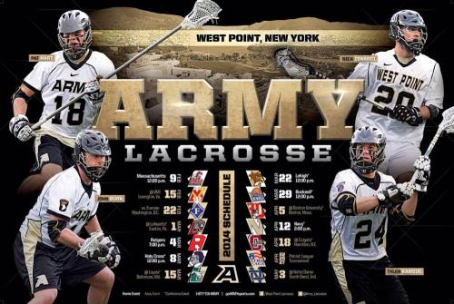 Army Men's Lacrosse 2014 Schedule Poster