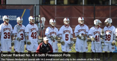 Denver Men's Lacrosse 2014 Preseason Rankings