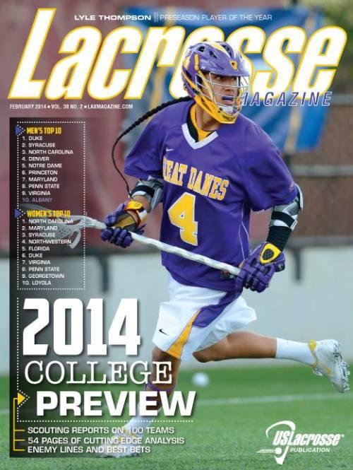 Lacrosse Magazine February 2014