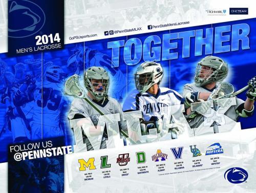 Penn State 2014 Men's Lacrosse Poster