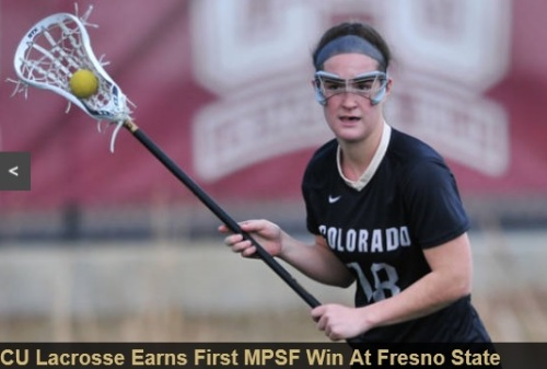 "The University of Colorado lacrosse team is making its inaugural season one to remember, claiming its first ever Mountain Pacific Sports Federation win here Saturday with a 12-6 victory over Fresno State.   With four Buffaloes scoring two or more goals, CU took a 10-1 lead into halftime and held off a 4-0 Fresno State run in the second half to claim its third straight victory, and its fist in conference play. The Buffs improve to 4-2 on the season and 1-1 MPSF. Fresno State remains winless in its last five outings, falling to 1-5 overall, 0-2 MPSF.  ""Today was a great opportunity for us to play a great conference opponent,"" CU head coach Ann Elliott said. ""For us, conference games are so important. We wanted to come out strong from that first draw to set the tone and really just be aggressive offensively and defensively. I think our kids did a great job of that if the first half. Obviously Fresno State came out strong in the second half. We just had to keep fighting for 60 minutes to pull out the win."" For the second consecutive game, Cali Castagnola led the way for the Buffs, scoring four goals. Marie Moore recorded her third hat trick of the young season and had a team-high five ground balls and three draw controls.   Sophomore Sarah Lautman and freshman Tori Link are hitting their offensive strides. Both scored their first goals in CU's home opener against Regis, and have been finding the back of the net ever since. They each scored two goals against Fresno State, with Link's second serving as the Buff's final goal."