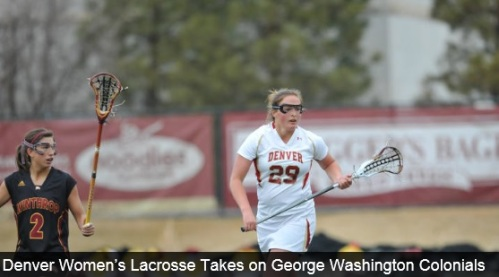 The University of Denver women's lacrosse team continues its homestand when the Pioneers take on the George Washington Colonials at Peter Barton Lacrosse Stadium on Friday at 7 p.m. MT.   MEDIA INFORMATION Fans can follow play-by-play updates during the game through live stats by clicking here. HEAD COACH LIZA KELLY DU women's lacrosse head coach Liza Kelly is entering her eighth season at the helm of the women's program. The Pioneers are 96-40 overall and 41-4 in conference play under Kelly. The 2013 IWLCA West/Midwest Region Coach of the Year led DU to a perfect conference record in 2013 and the second round of the NCAA Tournament. SERIES HISTORY This is seventh meeting between Denver and George Washington. The Pioneers beat the Colonials 17-6 last season. THE 2013 PIONEERS (7-1, 2-0 MPSF) Junior Jill Remenapp (Woodbine, Md.) leads the team with 35 points off 25 assists and 10 goals. Senior captain Meredith Harris (Middleburg, Va.) has 34 points off 26 goals and eight assists, placing 79.5 percent of her shots on goal. Defensively, senior Sonorah Vinyard (Denver, Colo.) has led DU on the draw, securing the ball 24 times, while adding nine caused turnovers. Additionally, Vinyard has 15 groundballs. Redshirt junior goalkeeper Hannah Hook (Arnold, Md.) has made 64 saves in 457:16 minutes played this season, facing 156 shots. SCOUTING GEORGE WASHINGTON (4-4, 0-0 ATLANTIC 10) The Colonials enter the game coming off a 10-8 loss against Delaware on March 22. George Washington is led offensively by Jamie Bumgardner's 39 points off 15 goals and 24 assists. Bumgardner has placed 85.2 percent of her shots on goal. Defensively, the Colonials are led by Jenn Seitz's 17 groundballs. Additionally, Seitz has 24 draw controls. Cara Dellavecchia has led the Colonials in caused turnovers with nine. Mackenzie Jones and Erin Long have split the time in the cage making a combined 83 saves on 182 shots faced. Jones is 3-3, while Long is 1-1. PIONEERS IN THE POLLS Denver is receiving votes in the Brine Women's Media Poll.