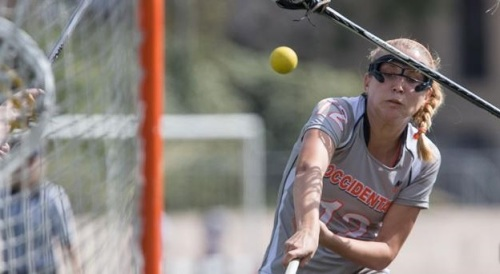"The Occidental women's lacrosse team was balanced on offense and stingy on defense as it improved its best start in program history with an easy 18-4 win over Saint Joseph's (Me.) at Jack Kemp Stadium on Tuesday. The Tigers move to 6-0 overall and are 5-0 with one round of SCIAC play in the books. Tori Larson led Oxy with three goals and Mackenzie Wright, Mary Richardson, Alessandra Quaroni, Rebecca Belding, Rebecca Reese, Alida Beck and Brita Loeb each had two. Abbey Williams also scored for the Tigers. Belding dished out a game-high four assists. But the more impressive performance was Oxy's defense, particularly in transition. The Tigers held Saint Joseph's (Me.) to 5 for 17 on clear attempts, often turning the Monks mistakes into offense at the other end. Mary Morrissey, Kristin Feinberg, Emily Fowler and Monica Rosenkranz led the way, with goalies Kirsten Hee, Adrienne Ruth and Katherine Torrey picking up the slack behind them. ""Our last three opponents we held to single digits so that was definitely our goal today,"" Oxy head coach Stephanie Janice said. ""We knew they had some good dodgers so we were just looking for good 1v1 play. We were really getting into a rhythm on defense and six games into the season they're really thinking one play ahead."" Fowler forced four turnovers and snatched up three ground balls."