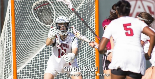 The No. 19 Stanford women's lacrosse team opens Mountain Pacific Sports Federation play Wednesday with the first of three road games in five days. After playing Fresno State, Stanford travels to No. 11 Towson and No. 14 Georgetown on a trip crucial to building up its RPI. The Cardinal opened the season with a three-game homestand that finished Sunday with a 16-15 overtime loss to Vanderbilt.
