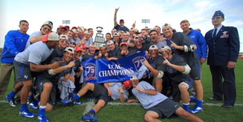 The Air Force lacrosse team will host Atlantic Sun champion Richmond in the play-in round of the 2014 NCAA Division I Men's Lacrosse Championship on Wednesday, May 7. The game is slated to begin at 7:00 p.m. in Falcon Stadium.  The Falcons, who have reached 10 wins for the first time since 1989, will make their first NCAA tournament appearance since 1988. Air Force, which currently holds a 10-5 overall record on the season, earned an automatic bid to the national tournament by capturing the ECAC tournament title. The Falcons, who entered the ECAC Championship as the third-seed, defeated second-seeded host Ohio State, 14-7, in the semifinals, while earning a 9-8 victory over top-seeded and 14th-ranked Fairfield.  Meanwhile, Richmond earned its automatic bid by capturing the Atlantic Sun tournament championship. After earning a 14-6 win over Mercer in the semifinals, the Spiders defeated High Point, 8-7, in the title game. Richmond has compiled a 6-10 overall record in its inaugural season of varsity competition.  The winner of Wednesday night's play-in game between Air Force and Richmond will advance to the NCAA First Round, facing the defending national champion, top-seeded Duke. That contest will be played on Sunday, May 11, at 5:15 p.m. (ET) in Durham, N.C.