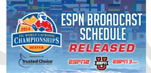 2014 FIL World Lacrosse Broadcast Schedule on ESPN Banner