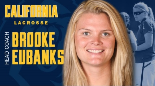 "Brooke Eubanks, a long-time assistant coach at Stanford who won multiple medals as a player for the Canadian Senior National Team, has been named head coach for women's lacrosse at the University of California, Berkeley. ""Lacrosse is my passion,"" Eubanks said. ""It's the game I love to play and the game I love to coach. Being fortunate enough to play lacrosse in college and in three World Cups was too short-lived. I knew early on that I wanted to be a head coach and continue enjoying this great sport. I can't imagine a better place, a better university or a better time to be a head coach than right now at Cal. I am thrilled for this opportunity, and I promise not to disappoint."""